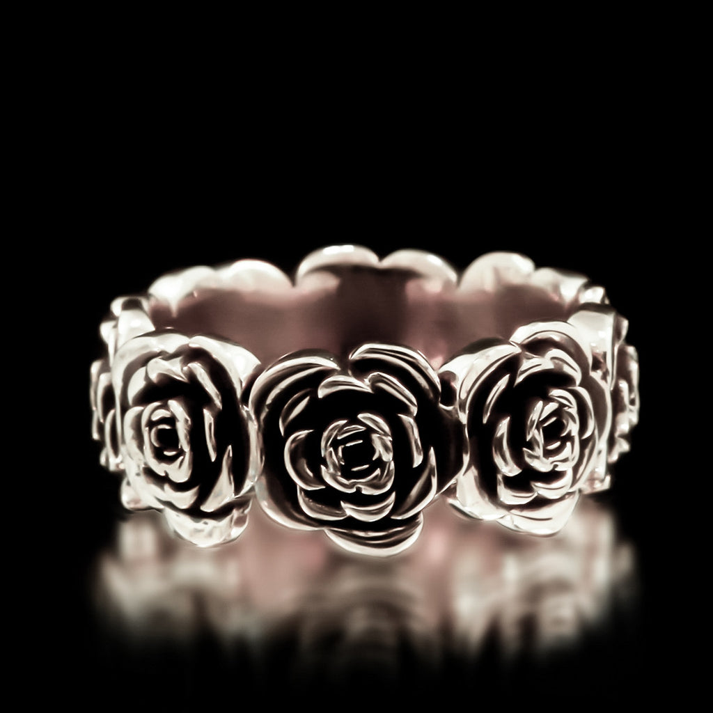 Rose Eternity Band - Sterling  Silver - Twisted Love NYC
