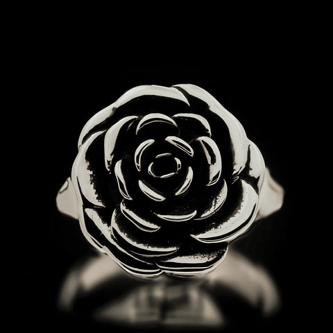 Rose Ring - Sterling Silver