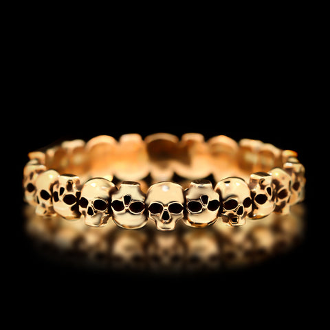 Skull Bangle - Brass