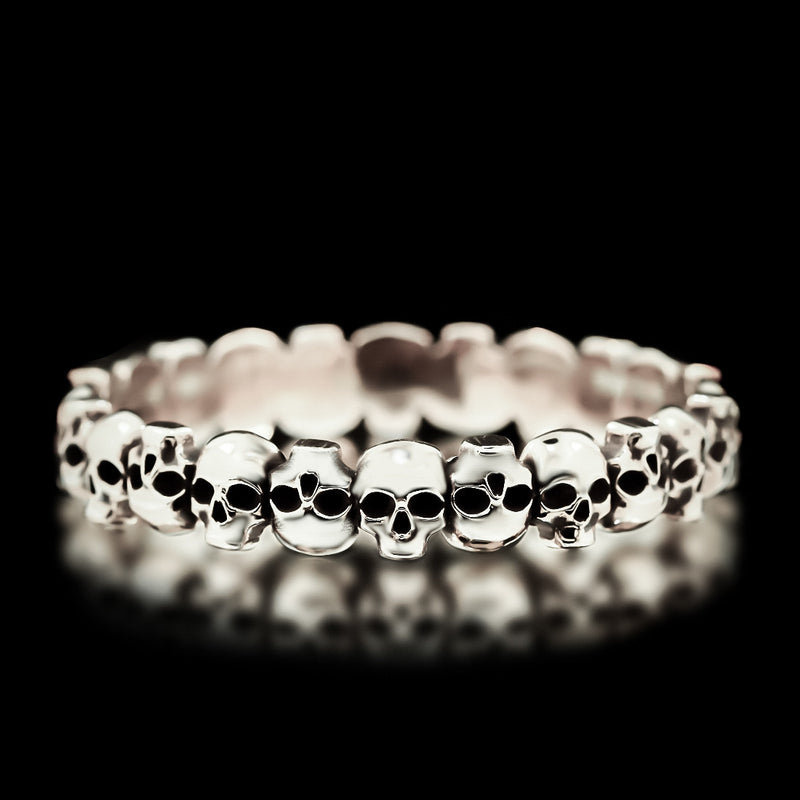 Skull Bangle - Sterling Silver - Twisted Love NYC