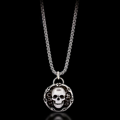 Skull & Bones Necklace - Sterling Silver