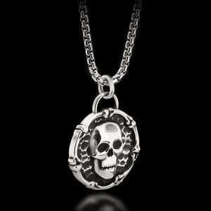 Skull & Bones Necklace - Sterling Silver - Twisted Love NYC