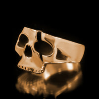 Slashed Skull Ring - Brass - Twisted Love NYC