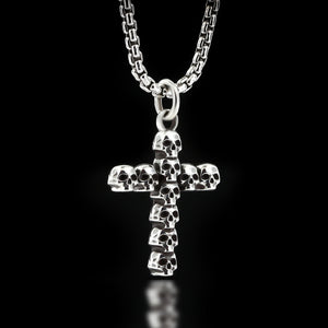 Skull Cross Necklace - Sterling Silver - Twisted Love NYC