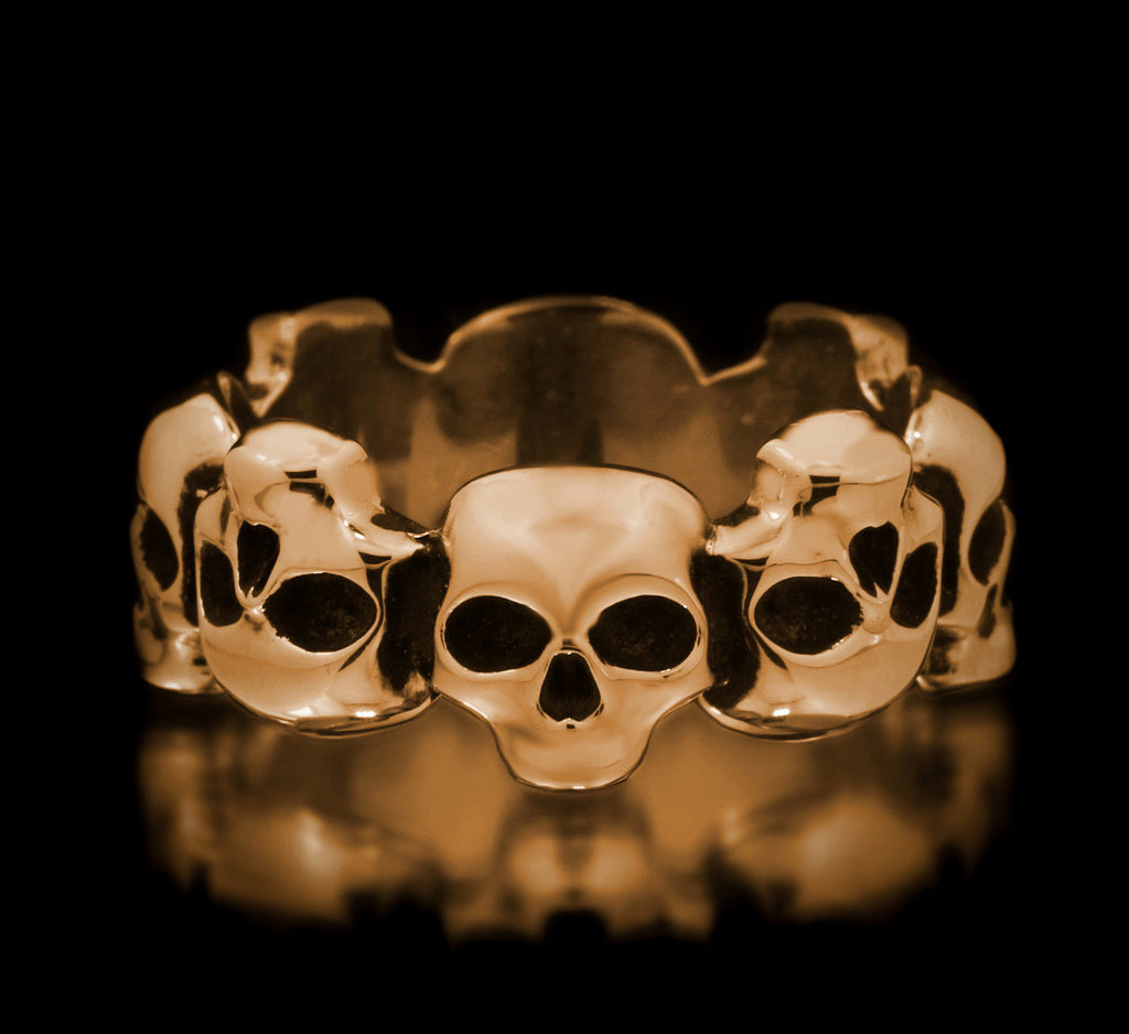 Skull Eternity Band - Brass - Twisted Love NYC