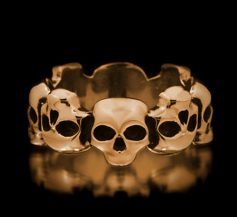 Skull Eternity Band - Brass