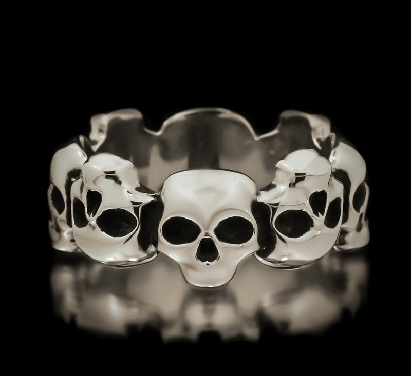 Skull Eternity Band - Sterling Silver - Twisted Love NYC