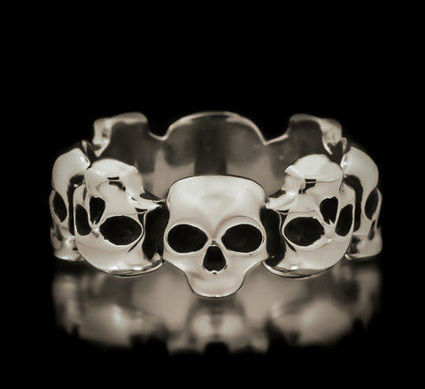 Skull Eternity Band - Sterling Silver