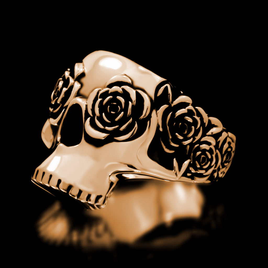 Frida Skull Ring - Brass - Twisted Love NYC