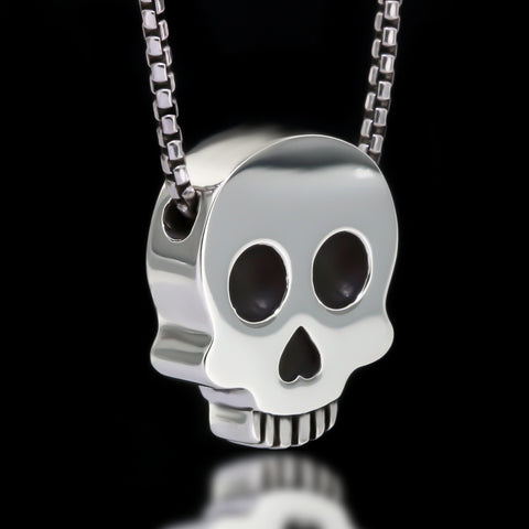 Skull Slider Necklace - Sterling Silver