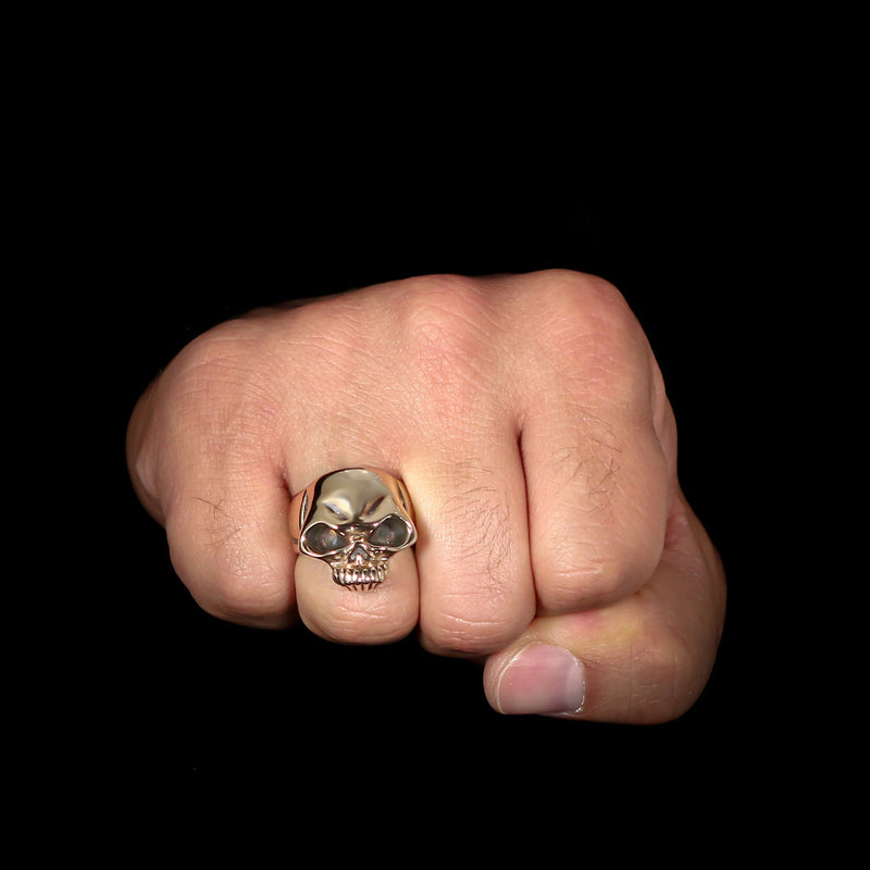 Biker Skull Ring - Sterling Silver - Twisted Love NYC