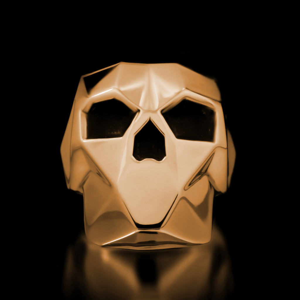 Faceted Skull Ring - Brass - Twisted Love NYC