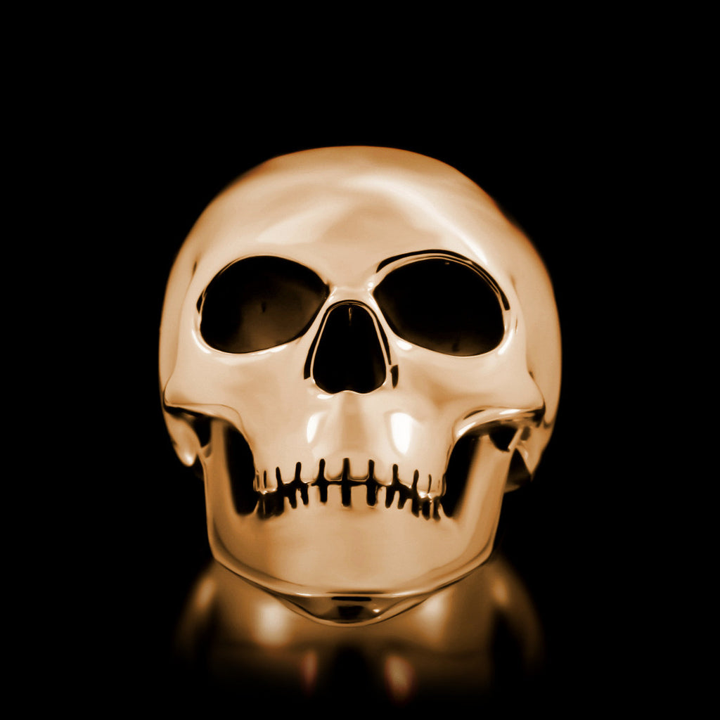 Classic Skull Ring - Brass - Twisted Love NYC