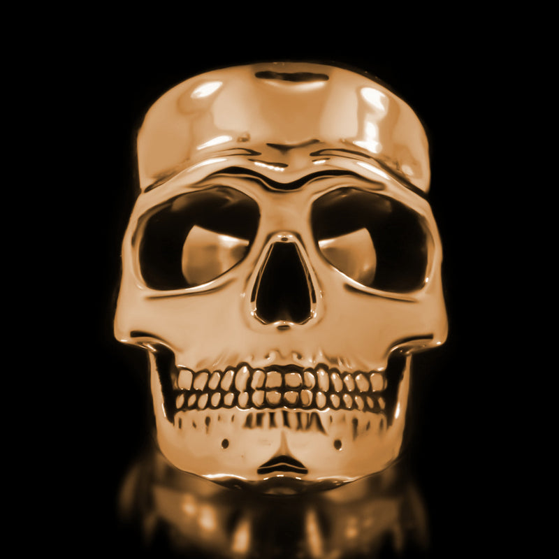 Misfit Skull Ring - Brass - Twisted Love NYC