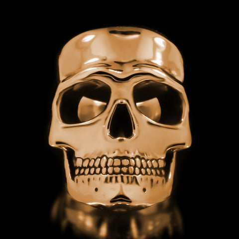 Misfit Skull Ring - Brass
