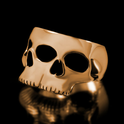 Siamese Skull Ring - Brass