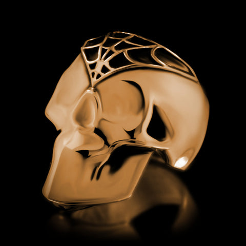 Silent Death Skull Ring - Brass