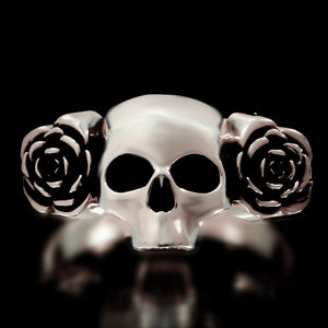 Skull And Roses Ring - Sterling Silver - Twisted Love NYC