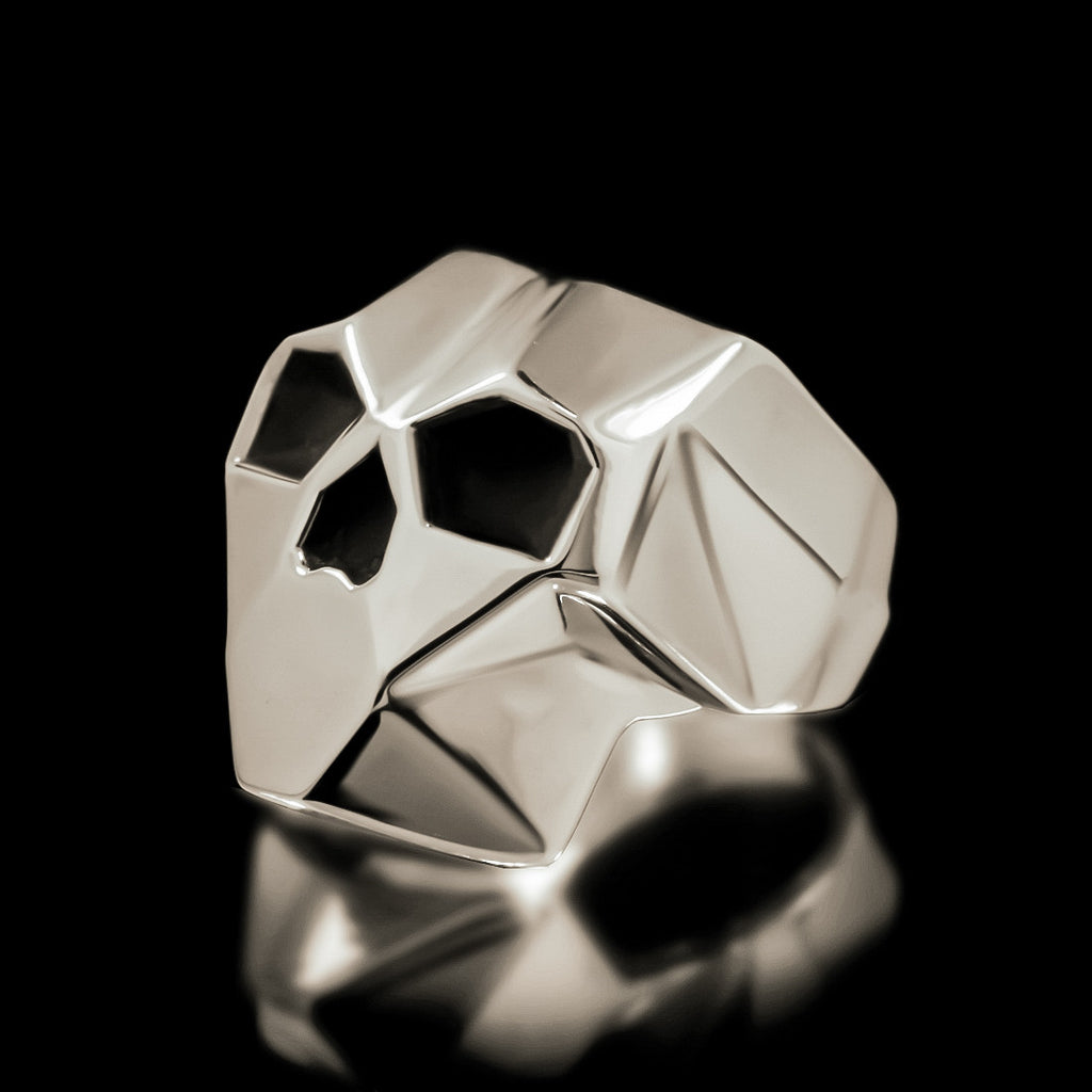 Faceted Skull Ring - Sterling Silver - Twisted Love NYC