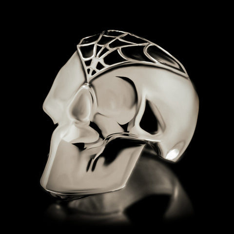 Silent Death Skull Ring - Sterling Silver