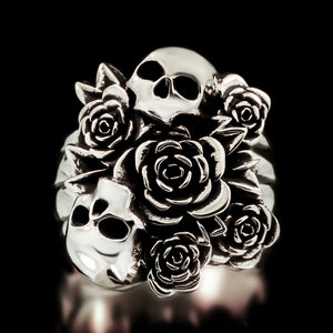 Skull Bouquet Ring - Sterling Silver - Twisted Love NYC