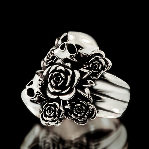 Skull Bouquet Ring - Sterling Silver