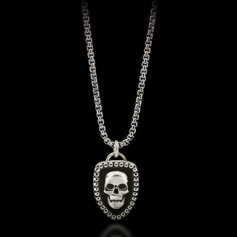 Skull Shield Necklace - Sterling Silver - Twisted Love NYC