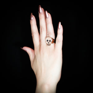 Skull Signet Ring - Sterling Silver - Twisted Love NYC