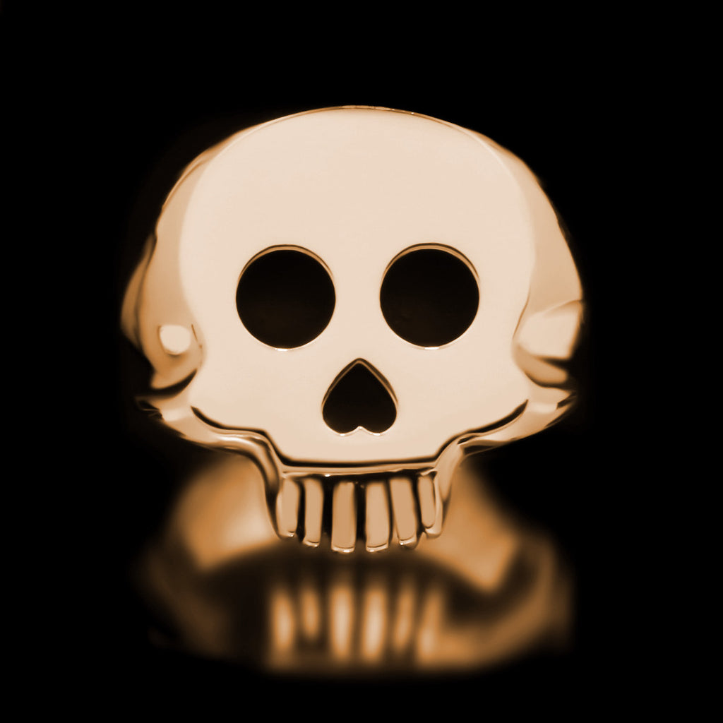 Skull Signet Ring - Brass - Twisted Love NYC
