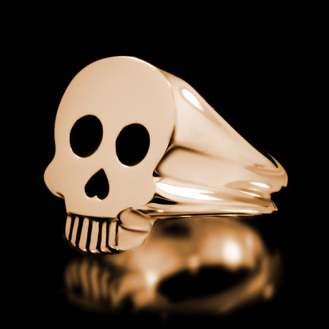 Skull Signet Ring - Brass
