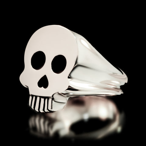 Skull Signet Ring - Sterling Silver