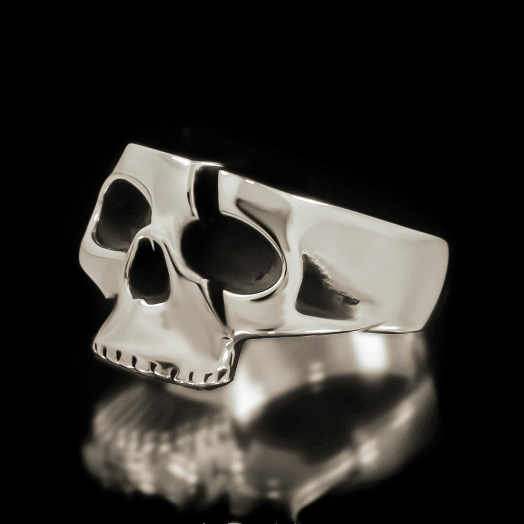 Slashed Skull Ring - Sterling Silver - Twisted Love NYC
