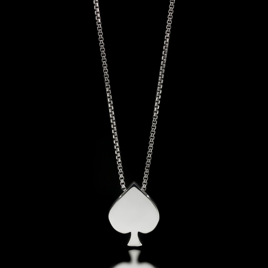 Spade Slider Necklace - Sterling Silver - Twisted Love NYC