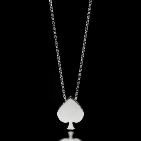 Spade Slider Necklace - Sterling Silver