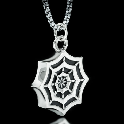 Spider Web Necklace - Sterling Silver