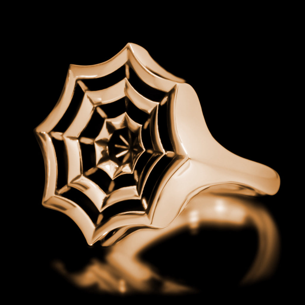 Spider Web Ring - Brass - Twisted Love NYC