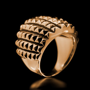 Spike Armour Ring - Brass - Twisted Love NYC