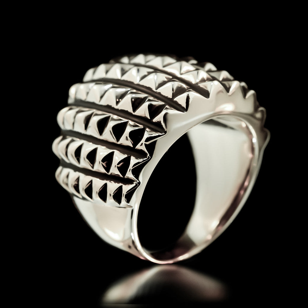 Spike Armour Ring - Sterling Silver - Twisted Love NYC