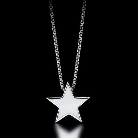 Star Slider Necklace - Sterling Silver