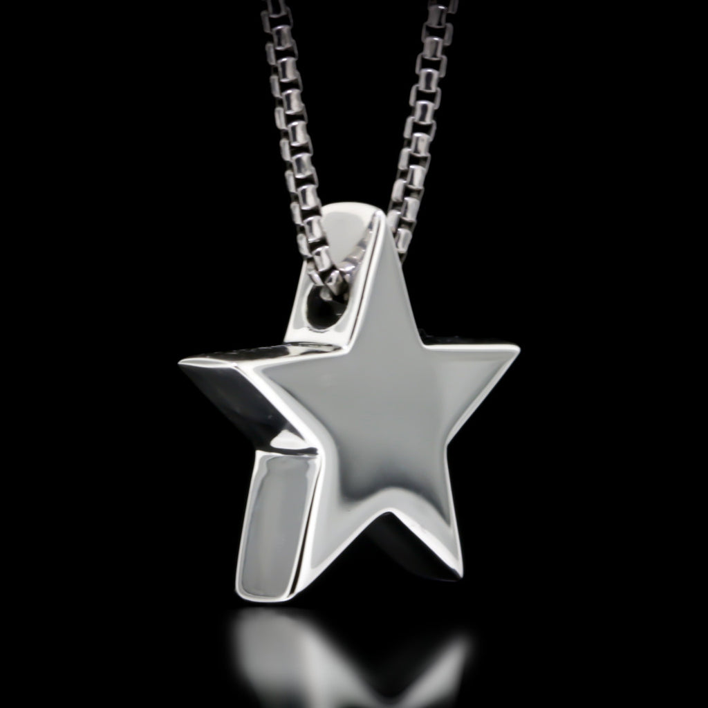 Star Slider Necklace - Sterling Silver - Twisted Love NYC