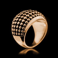 Stud Armour Ring - Brass - Twisted Love NYC