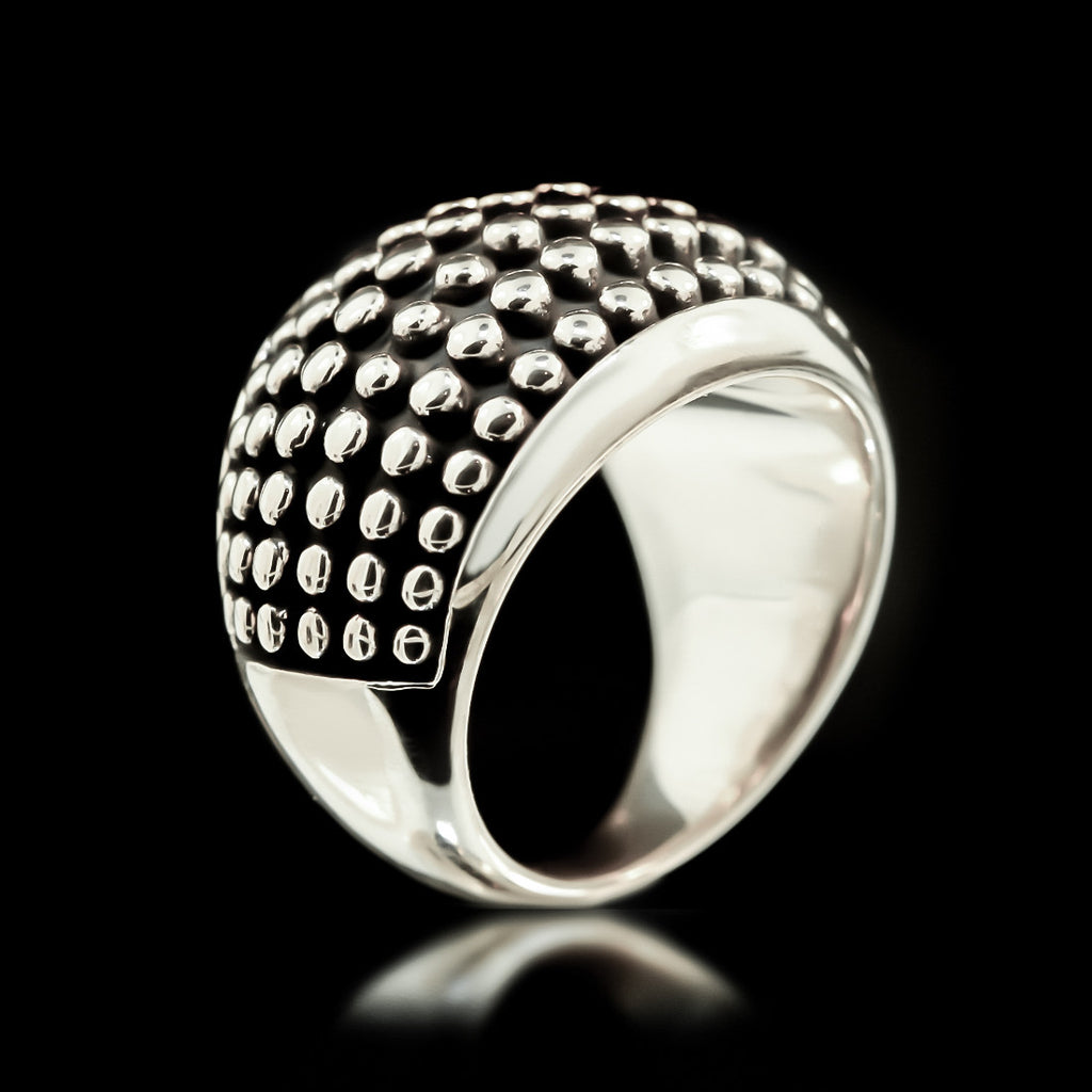 Stud Armour Ring - Sterling Silver - Twisted Love NYC