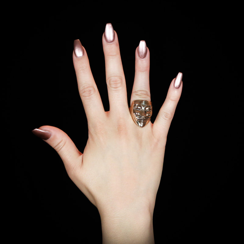 Vendetta Ring - Brass - Twisted Love NYC