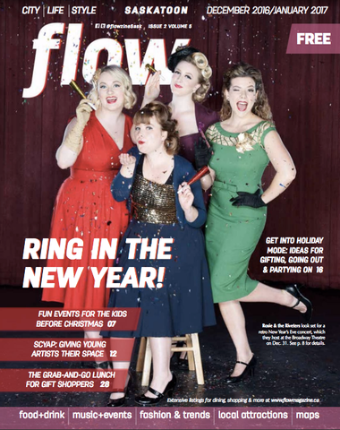 Flow Magazine Cover Featuring Rosie and the Riveters