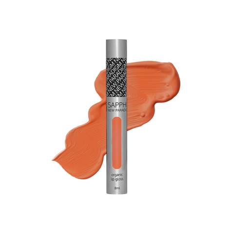 SAPPHO - Speak Volumes Lip Gloss - Amy: Dark spiced peach tone clean, natural, made in canada, creulty-free, vegan