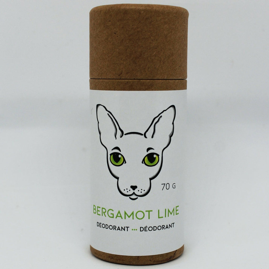 Naked Kitty Naturals - Natural Deodorant - Bergamot Lime in a Paper Tube