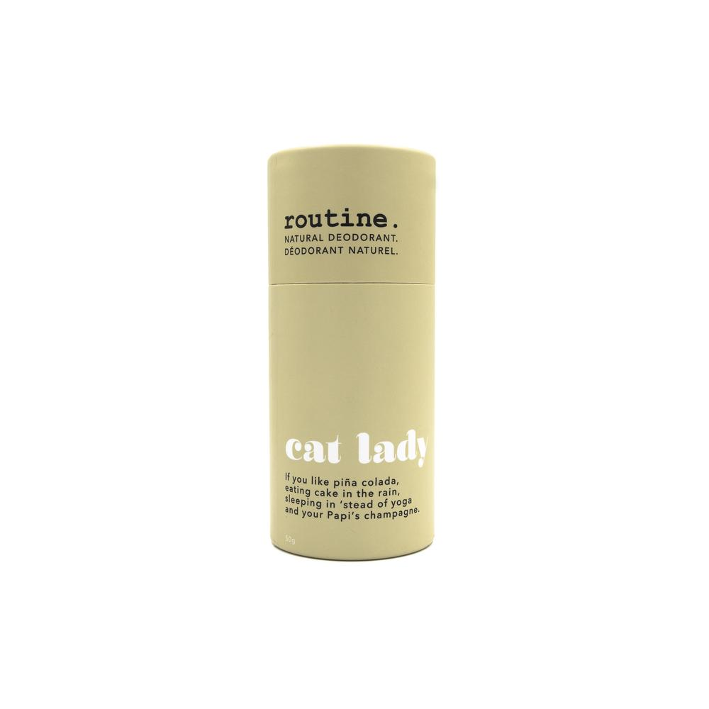 Routine - Natural Deodorant Stick - Cat Lady, made in canada, clean skincare, cruelty free skincare
