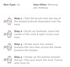 How to use the Facial Dry Brush instruction Chart. The same info can also be found in product description.