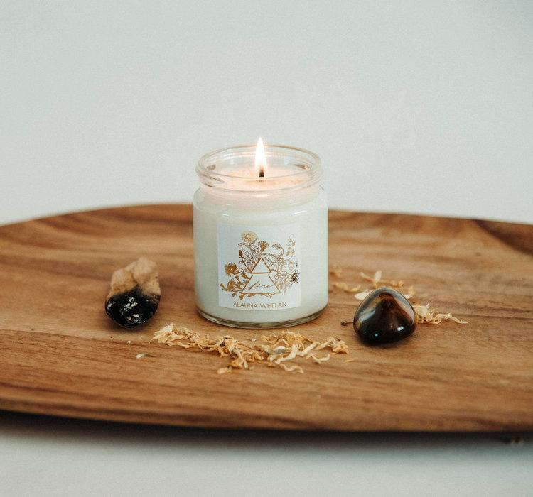 Alauna Whelan Handcrafted Luxury Goods - Abundance - Fire Candle Made in Canada Soy Wax Cruelty Free