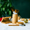 Elate Cosmetics - Bamboo Brush Canister for cruelty free makeup brushes sustainable living plastic free